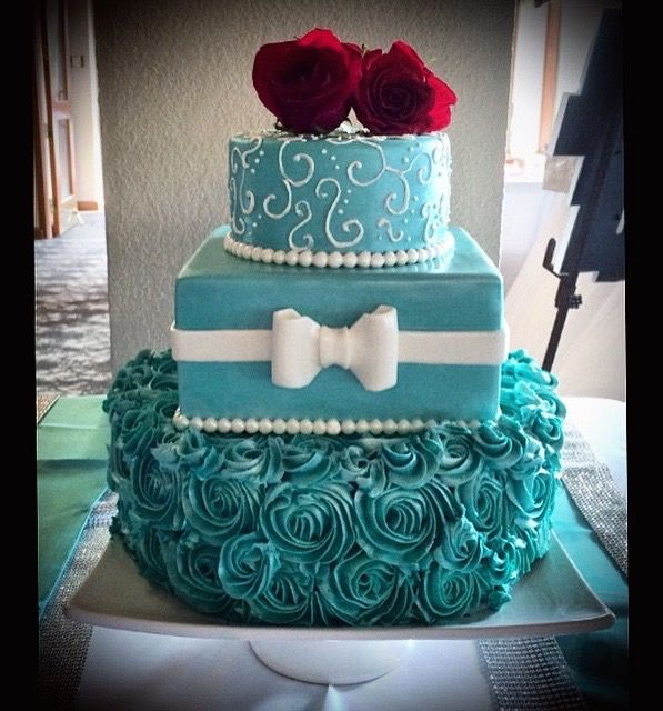 Baby Shower Cakes Calgary Part - 44: Sweety Cakes - Www.sweetycakes.ca Custom Calgary Cakes Tiffany And Co  Inspired Wedding