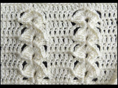Crochet : Punto en Relieve Combinado - YouTube