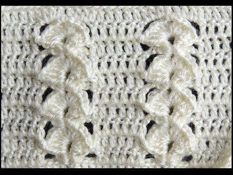 Bello punto combinado en relive, realizado en Crochet.