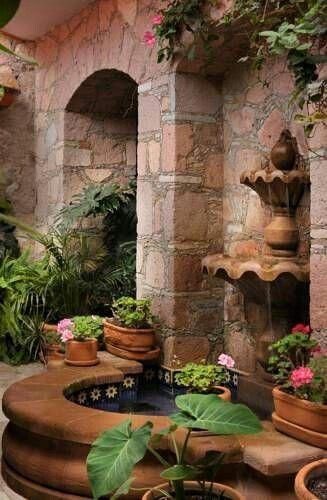 Spanish style fountain