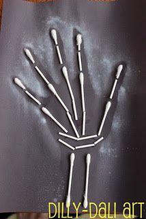Handprint and Footprint Arts & Crafts: Halloween handprint/footprint art