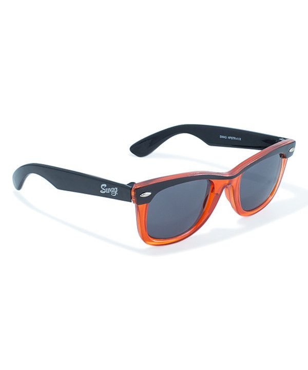 Look at this Swag Orange & Black Hipster 4 Sunglasses on #zulily today!