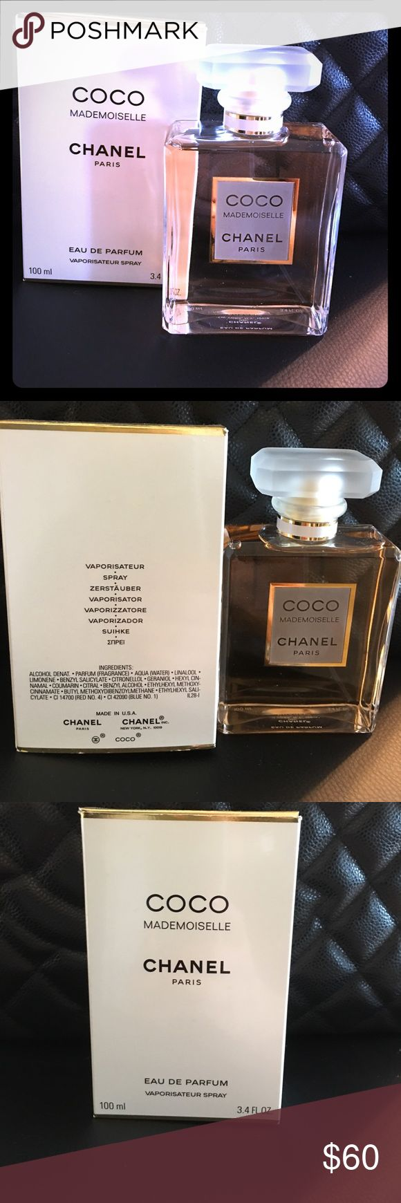 Perfume brand new. CHANEL. Paris CHANEL . COCO mademoiselle. Brand new in box .  Eau de parfum . 100 ml . 3,4 Fl oz. Other
