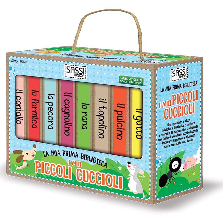 #Sassi Junior: La Mia Prima Biblioteca. I Piccoli Cuccioli - 8 libretti di 10 pagine ciascuno. #ecologia #libro #gioco