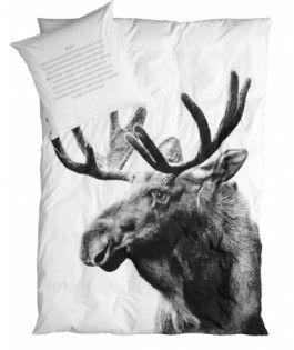 Sengetøj fra By Nord - med elg