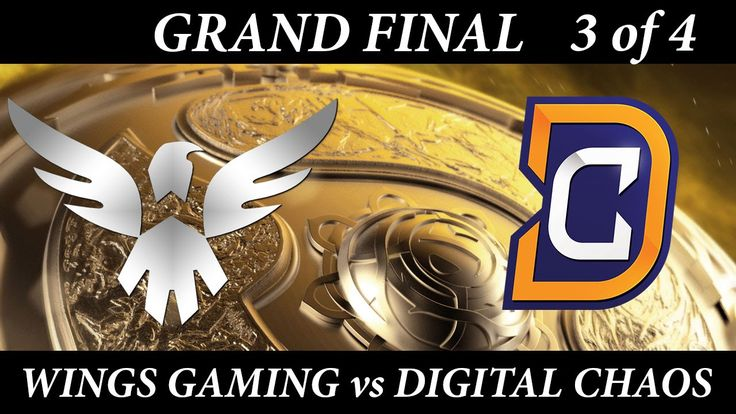 TI6 Grand Final Digital Chaos vs Wings game 3 The International 2016