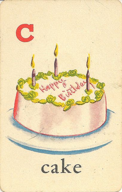 Birthday Cake With Photo Upload Free : C is for cake Flickr - Photo Sharing! #vintage #birthday ...