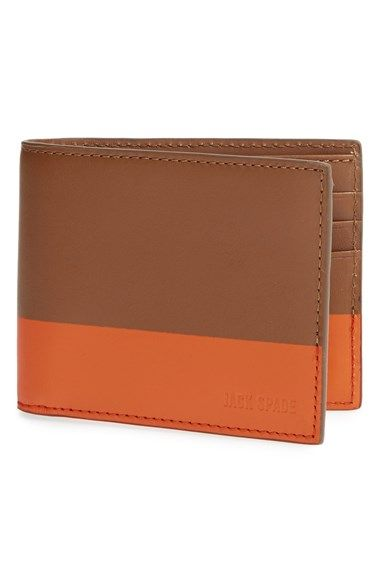 Jack Spade Dipped Leather Wallet available at #Nordstrom in black/brown