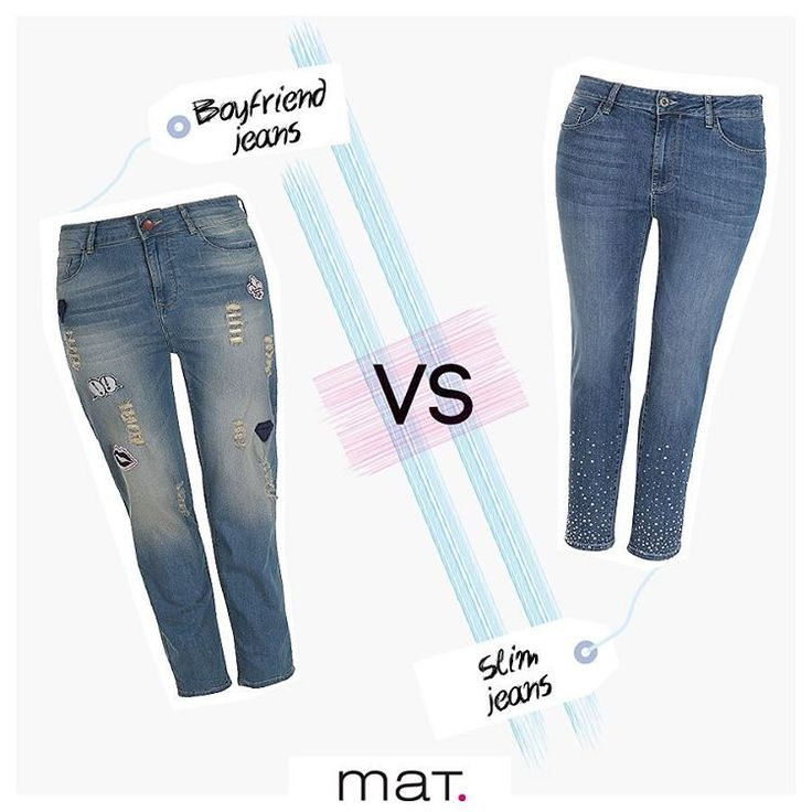 Xαλαρό & trendy τζιν παντελόνι σε boyfriend γραμμή ή θηλυκό slim με strass; Το #matfashion denim παιχνίδι κρίνεται από το στυλ & τη διάθεσή σου! Εσύ ποιο τζιν θα φορέσεις; Βρες το τζιν σε boyfriend γραμμή ➲ code: 672.2015 Βρες το τζιν σε slim γραμμή ➲ code: 673.2042 #matjeans #ss17 #collection #realsize #denim #fashion #inspiration #plussizefashion #psblogger