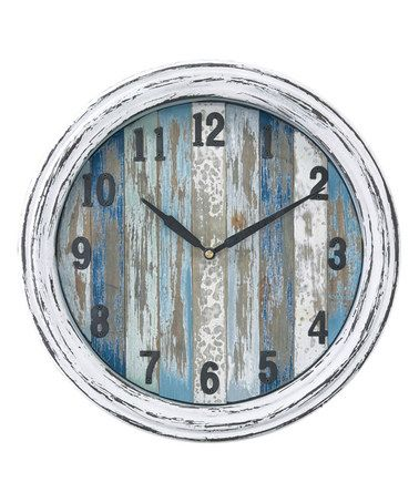 Love This White Wood-Plank Wall Clock. Needs to be BIGGER #zulilyfinds                                                                                                                                                                                 More
