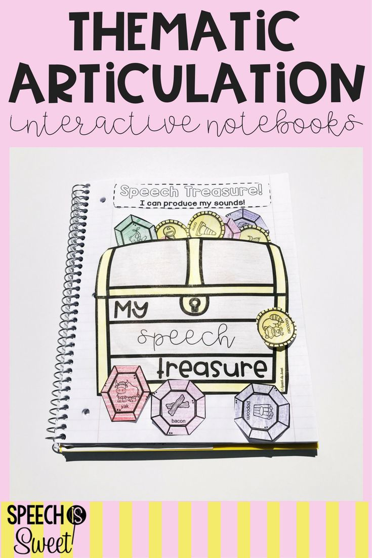 Coloring activities speech therapy - Thematic Interactive Articulation Notebooks A Growing Bundle Your Speech Therapy