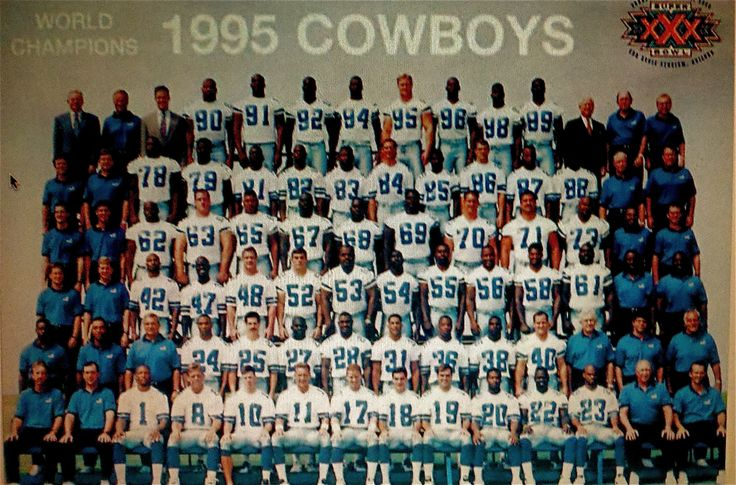 1995 Dallas COWBOYS Super Bowl Champions. IN 1995, THIS WAS HOUSTON'S TEAM! There was no Texans and The Oilers had long sinced moved to Tennessee. WE WERE A TOWN IN LIMBO! I watched fans turn their back on our CHAMPIONS to a new team, the Texans... I NEVER FORGOT!!! Have The Texans ever given us a Superbowl Ring? YOU ARE ALL SHEEP! I will be the only one at a Texans sports bar PROUDLY sporting my Cowboys Jersey.. AND WHAT!?!