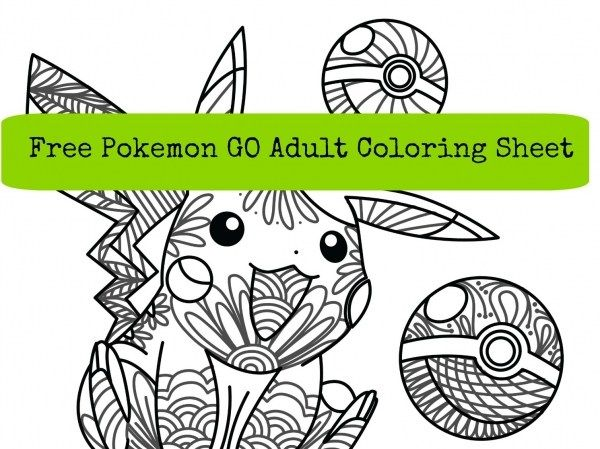 Pokemon Go Free Adult Coloring Page | party ideas ...