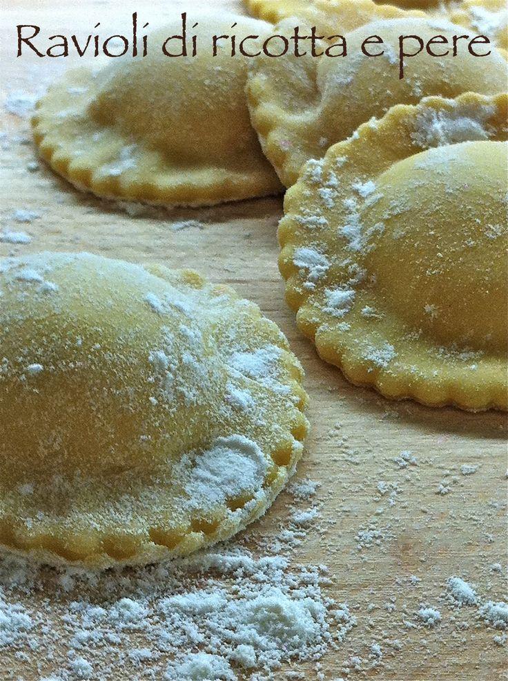 I dolci nella mente: Intermezzi salati: Ravioli di ricotta e pere al tartufo nero