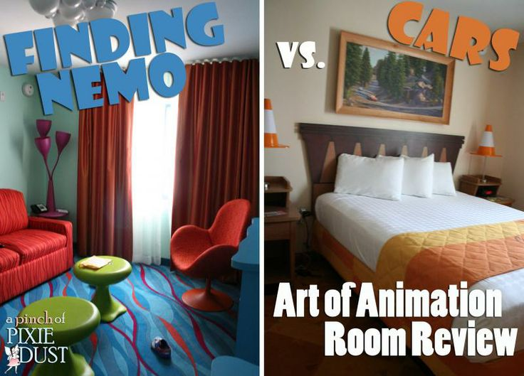Finding nemo vs cars art of animation room review