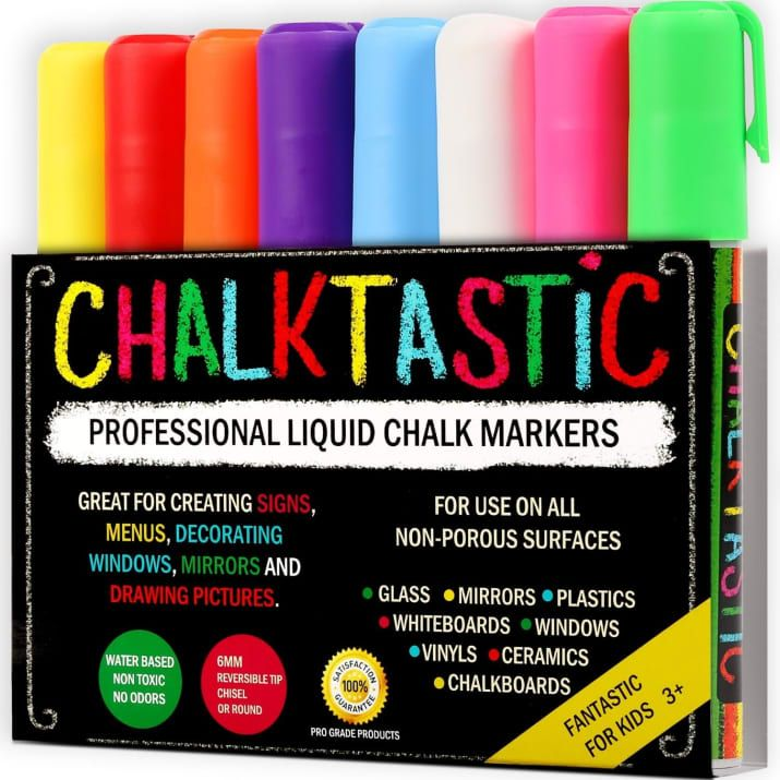 """Promising review: """"We used these markers to decorate our car windows, and they worked fantastic! The color wipes off glass with a paper towel and doesn't leave any weird residue — like typical window paint does. The colors are perfect. And the red is actually red, not the weird mauvey-pink you usually see."""" — Jennifer O.Price: $13.97"""
