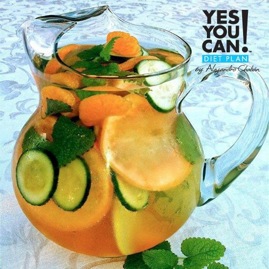 YesYouCan! Fruit Infused Water - A healthy option for your Yes You Can! Diet Plan drink