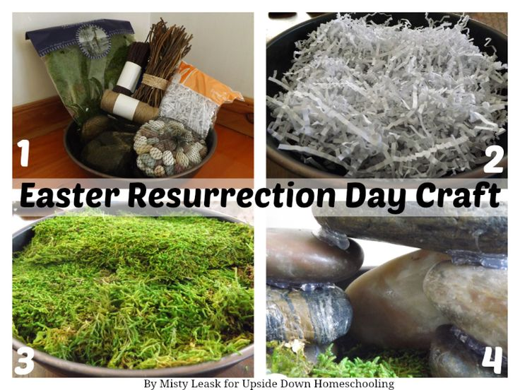 Easter Resurrection Day Craft - Upside Down Homeschooling