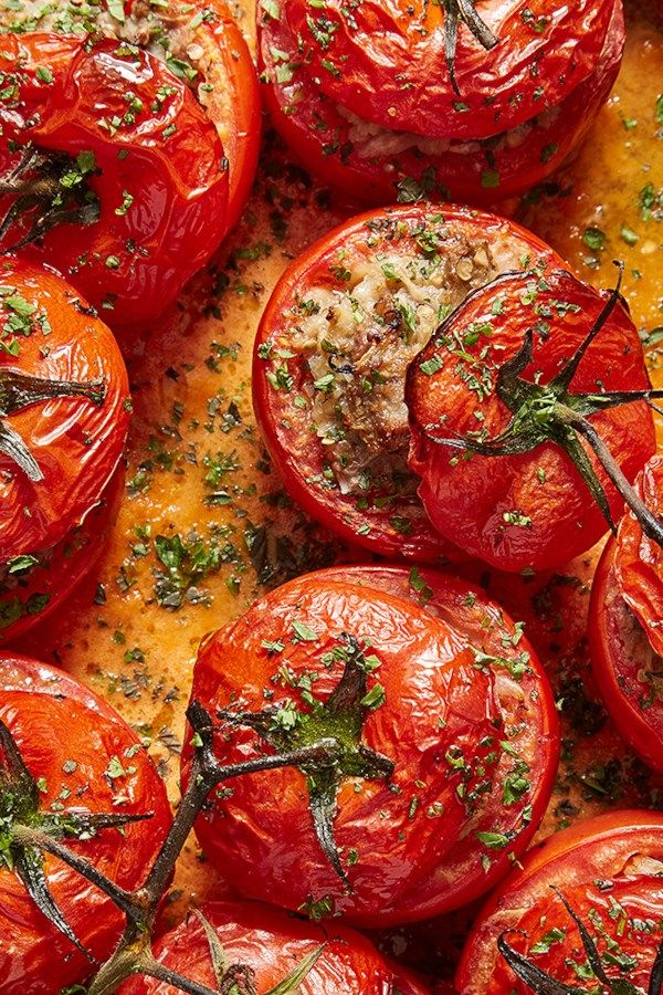 This Easy Recipe Pairs Ripe Tomatoes With A Ground Beef Filling That S Lightened With Eggplant And Onions Serve Turkish Recipes Middle Eastern Recipes Recipes