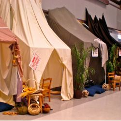 Decorating Tips for Holy Land Adventure VBS - Marketplace Tents