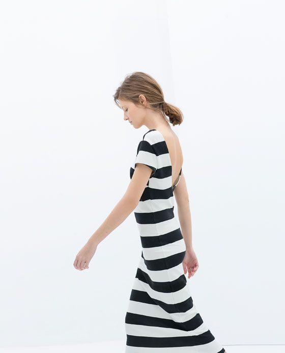 Image 3 of STRIPED DRESS WITH A LOW-CUT BACK from Zara