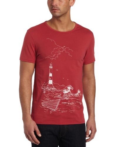Ben Sherman Men's Plectrum Discharge Print Shore Tee  Atlantic  LargeFrom #Ben Sherman List Price: $65.00Price: $31.90