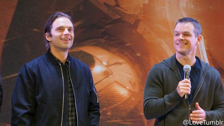 Sebastian Stan & Matt Damon