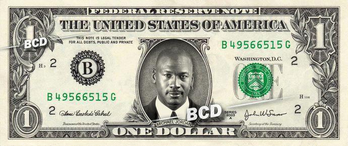 MICHAEL JORDAN – Real Dollar Bill Cash Money Collectible Memorabilia Celebrity Novelty