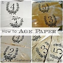 Frenchy {Aged Paper} Candle Wraps