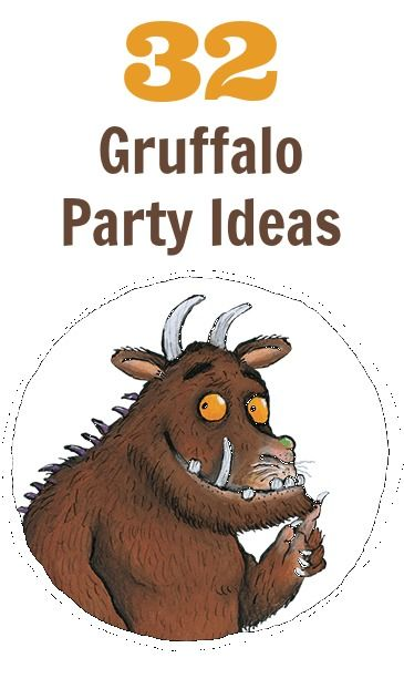 32 Gruffalo party ideas including food, decorations, games and party favours. #gruffalo #kidsparties #partyideas