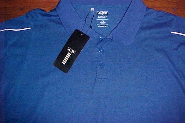 adidas Climalite Men Blue White Stripes TPC Group Golf Polo Shirt 2XL New #adidas #PoloRugby
