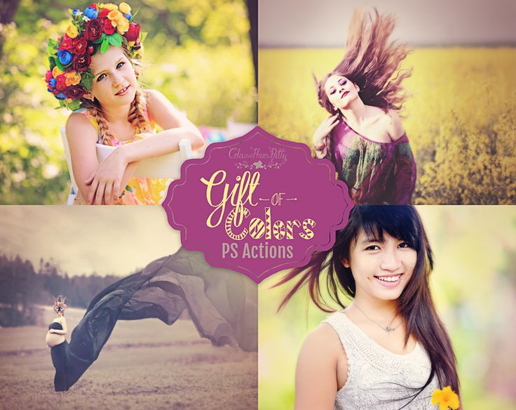 Gift of Colors Actions {Photoshop CS5, CS6 & CC and Elements 11 & Newer Versions}