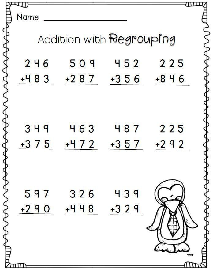 Math Worksheets For Grade 3 Math Worksheets Grade 3 Powerful Addition With Regrouping 2 Nd F 2nd Grade Math Worksheets 3rd Grade Math Worksheets 2nd Grade Math
