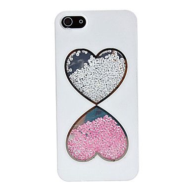 Double perles de modèle de coeur à l'intérieur arrière pour l'iPhone 5/5S – EUR € 9.19