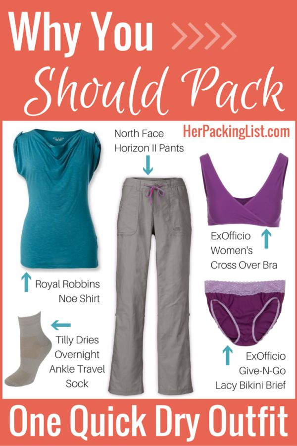 How do you pack light and ensure that you have clean clothes when you need them? It's all about the outfits with quick dry fabric.