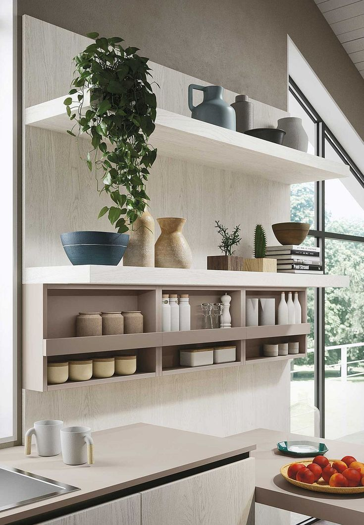 Fabulous Open Kitchen Shelves For The Minimal Contemporary Kitchen