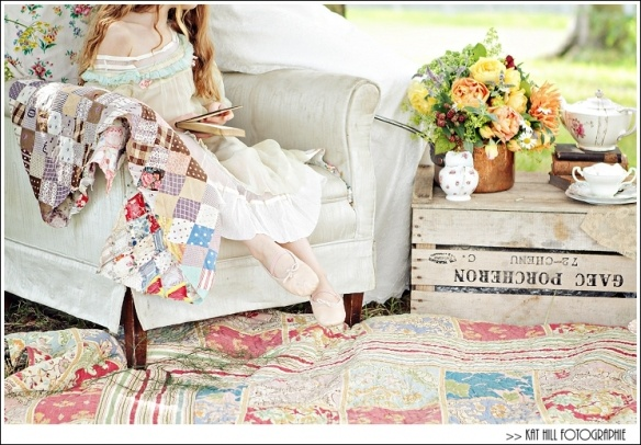 Jane Austen Themed Styled Vintage Tea Party  Picnic Photo Shoot