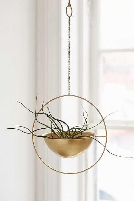 Pot de fleurs à suspendre circulaire en métal