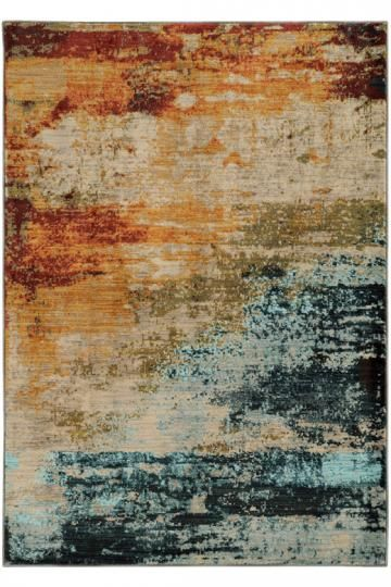 Dusk Area Rug - Contemporary Rugs - Synthetic Rugs - Machine-made Rugs - Colorful Rugs | HomeDecorators.com