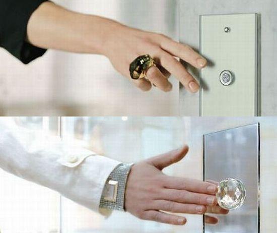 Swarovski crystal studded light switches.