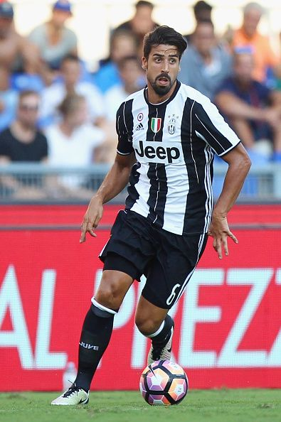 Sami Khedira of Juventus FC in action during the Serie A match between SS Lazio and Juventus FC at Stadio Olimpico on August 27 2016 in Rome Italy