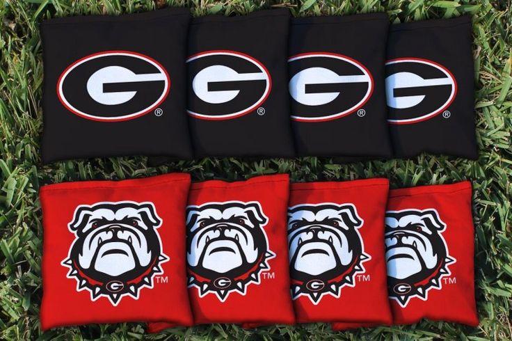 Cornhole Bag Logo Set - University of Georgia Bulldogs 32628