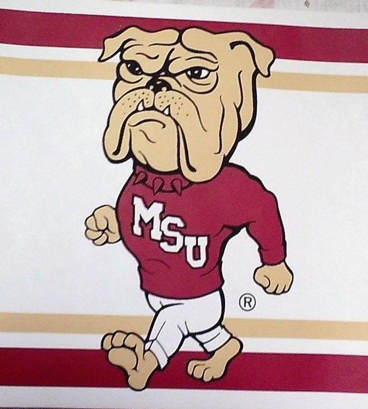 Mississippi State Bulldogs Wallpaper Border 5.5 x 15' New Four Different Logos #MississippiStateBulldogs