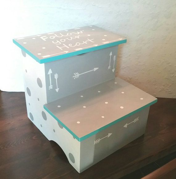 Arrow and Polka Dot Step Stool-Turquoise or Aqua by DREAMATHEME & 15 best Toddler Step Stool images on Pinterest | Step stools ... islam-shia.org