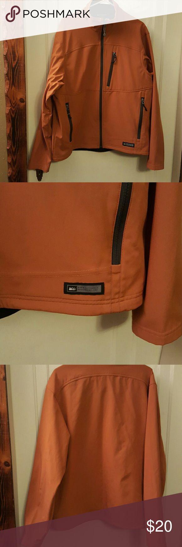Men's REI burnt orange zip up Burnt orange men's REI zip REI Jackets & Coats Lightweight & Shirt Jackets