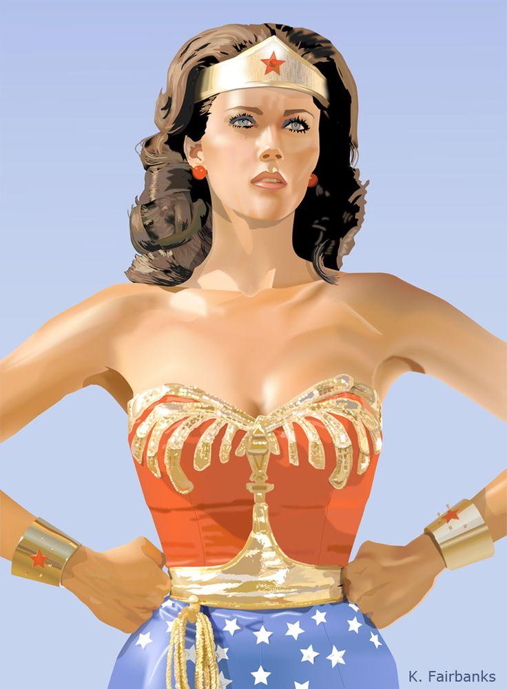 Lynda Carter Wonder Woman - K Fairbanks Graphic-9887