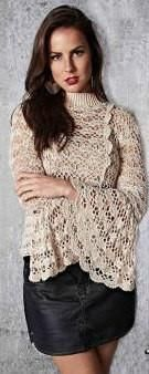 Handmade crochet blouse, bell sleeves - FREE SHIPPING #Christmasclothes #christmas #handmadegift #fashiontrends #madetoorder #plussize #plussizeclothes