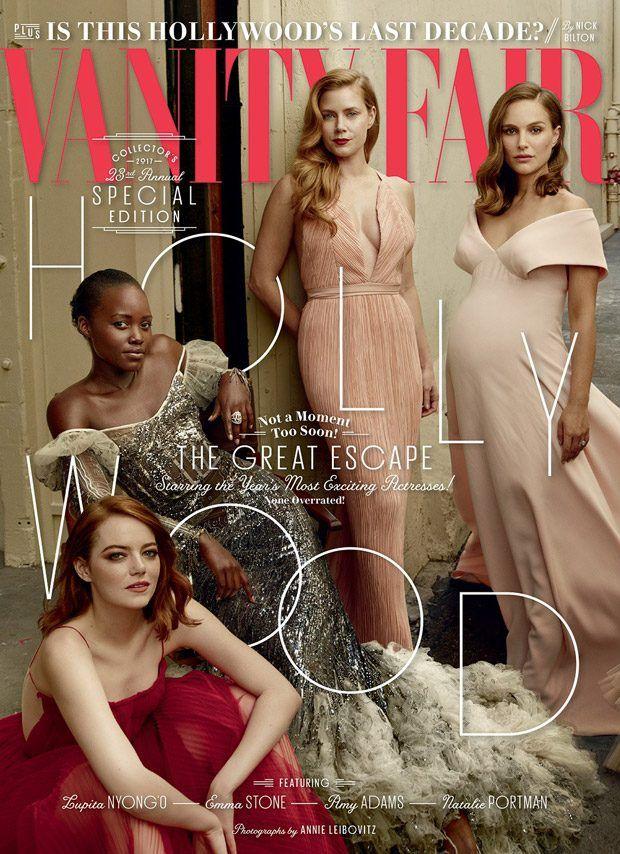 Vanity Fair Hollywood Issue  March 2017 - Emma Stone, Natalie Portman, Lupita Nyong'o  & More -  Annie Leibovitz