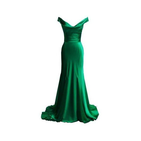 DINA BAR-EL Gemma Emerald ($155) ❤ liked on Polyvore featuring dresses, knot dresses, formal wear dresses, emerald formal dress, formal occasion dresses and green formal dresses