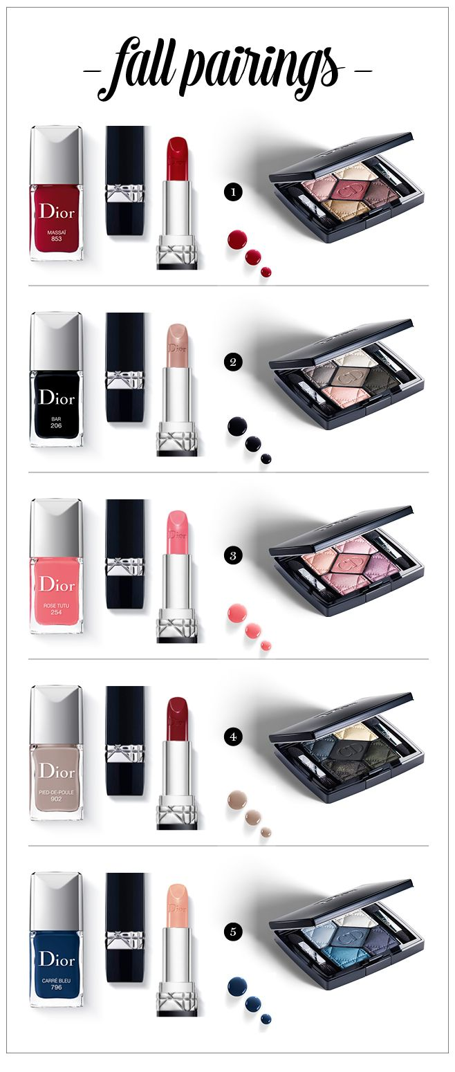 Dior Fall Makeup Collection 2014, 5 Couleurs Eye Shadow Palette, Rouge Dior Lipstick, Dior Vernis Nail Lacquer, Makeup, Fall Makeup, Fall Makeup Collections, Dior, Dior Makeup,